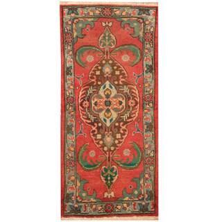 Handmade Herat Oriental Persian Tabriz Wool Rug (Iran) - 1'10 x 4'