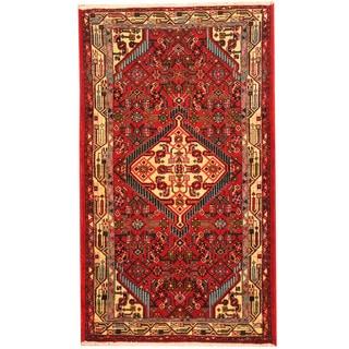 Herat Oriental Persian Hand-knotted Tribal Hamadan Wool Rug (2'7 x 4'5)
