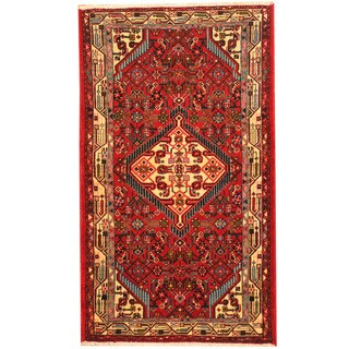 Herat Oriental Persian Hand-knotted Tribal Hamadan Wool Rug (2'7 x 4'5) - 2'7 x 4'5