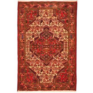 Herat Oriental Persian Hand-knotted Tribal Hamadan Wool Rug (2'8 x 4')