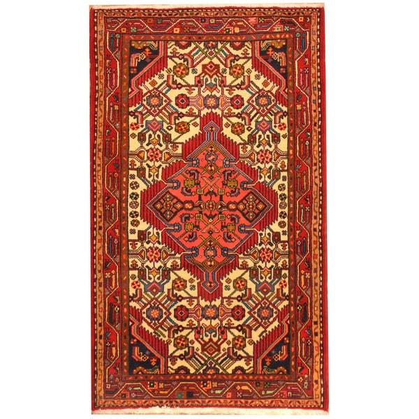 Herat Oriental Persian Hand-knotted Tribal Hamadan Wool Rug (2'8 x 4'6) - 2'8 x 4'6