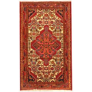 Herat Oriental Persian Hand-knotted Tribal Hamadan Wool Rug (2'8 x 4'6)