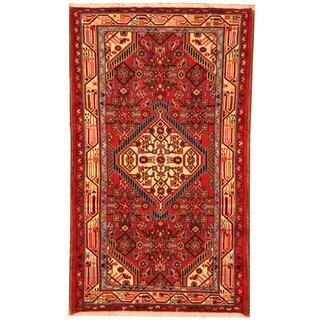 Herat Oriental Persian Hand-knotted Tribal Hamadan Wool Rug (2'5 x 4'1)