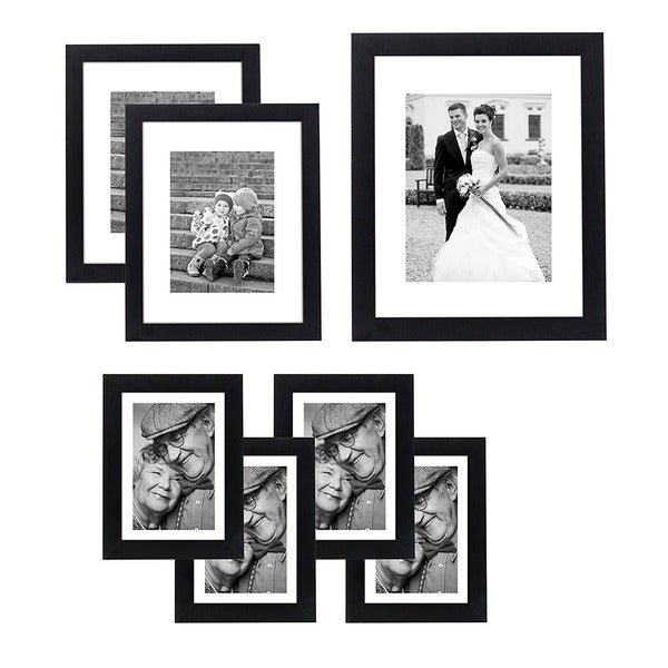 7 Piece Wall Frame Set For One 8 X 10 Inch Two 5 X