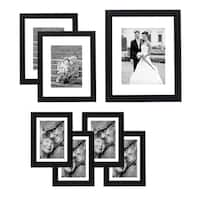 Americanflat 7-piece Wall Frame Set for One 8 x 10-inch Two 5 x 7-inch, and Four 4 x 6-inch Photos