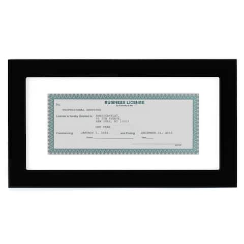 Americanflat 3.5 x 8-inch Business License Frame
