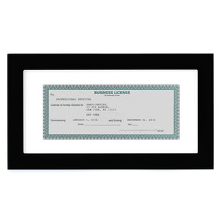 3.5 x 8-inch Business License Frame