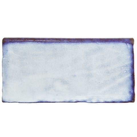 SomerTile 3x6-inch Antiguo Special Via Lactea Ceramic Bullnose Wall Trim Tile (6 tiles)