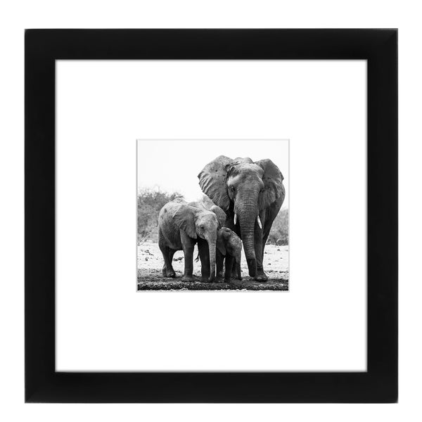 Americanflat 8 x 8-inch Black Picture Frame for 4 x 4-inch Pictures with Mat or 8 x 8-inch Pictures Without Mat