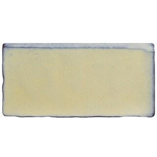 SomerTile 3x6-inch Antiguo Special Pergamon Ceramic Bullnose Wall Trim Tile (6 tiles)