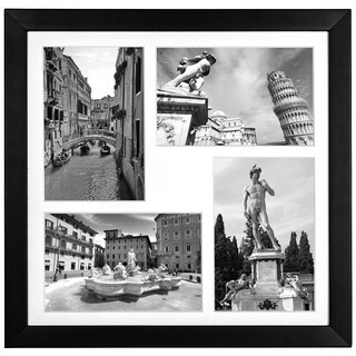 Collage Picture Frame Landscape and Portrait Pictures for 4 x 6-inch Pictures with Mat or 12 x 12-inch Pictures Without Mat