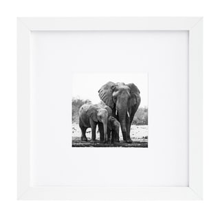 Americanflat 8 x 8-inch White Picture Frame for 4 x 4-inch Pictures with Mat or 8 x 8-inch Pictures Without Mat