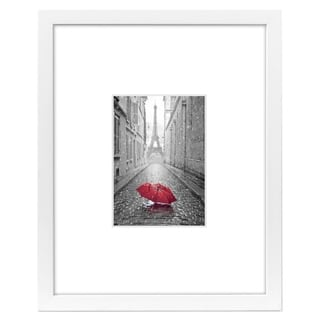 Americanflat 11x14 White Picture Frame - Matted to Fit Pictures 5x7 Inches or 11x14 Without Mat - White Mat - Glass Front
