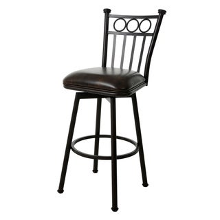 Bostonian Brown Steel 30-inch Swivel Bar Stool