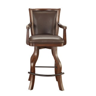 Whitaker Furniture Monticello Walnut Wood Spectator Stool