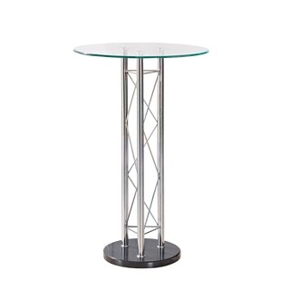 Global Furniture Clear/Black Bar Table