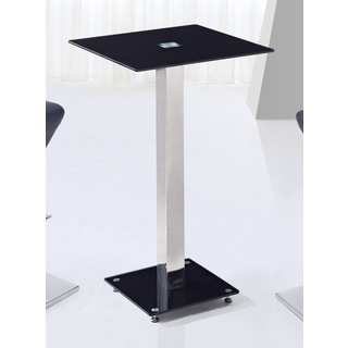Global Furniture Black/Silver Metal/Glass Table