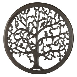 "24"" Dark Brown Solaris Ten Tree of Life Wall Art"