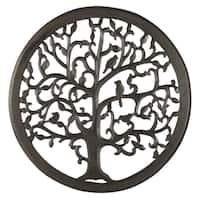 "24"" Dark Brown Solaris Ten Tree of Life Wall Art"