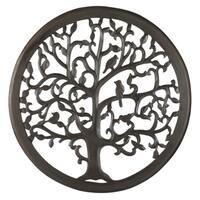 "12"" Dark Brown Solaris Ten Tree of Life Wall Art"