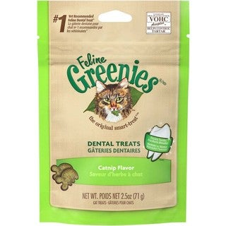 Greenies Feline Dental Treat Catnip Flavor