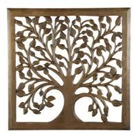 "12"" Light Brown Solaris Nine Tree of Life Wall Art"