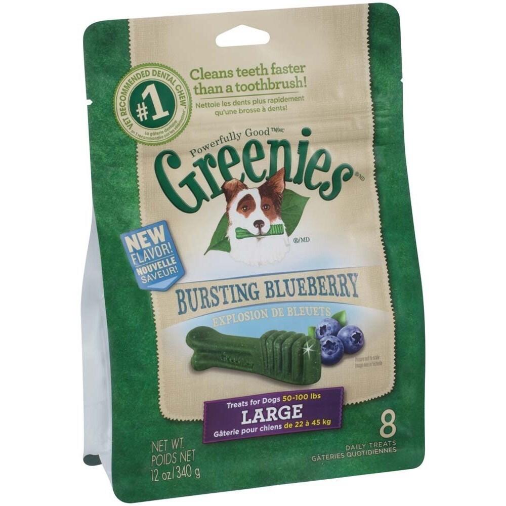 Greenies Blueberry Dog Treats (Large-12oz), Size L