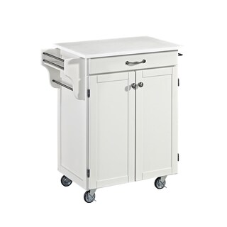 Havenside Home Driftwood Cuisine Cart in White Finish
