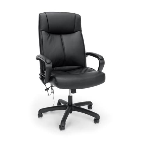 Vibrating Massage High-Back Leather Executive Office Chair