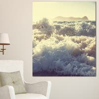 Roaring White Waves on Beach - Seashore Canvas Wall Artwork