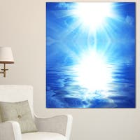 Blue Sky Mirrored in Blue Sea - Seashore Canvas Wall Artwork