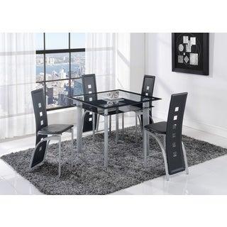 Global Furniture Black Trim Metal Glass Bar Table