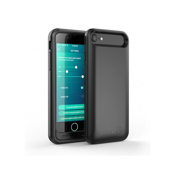 iPM Black ABS and TPU Apple-certified Charger Case for iPhone 7/ 7 Plus with Free Screen Protector