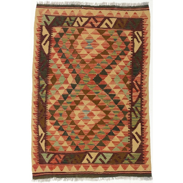 Shop ECarpetGallery Kashkoli Red/Green Wool Handwoven