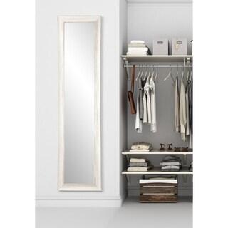Multi Size BrandtWorks White Coastal Whitewood Slim Floor Mirror - White/Grey