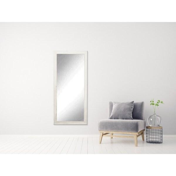 Multi Size BrandtWorks Distressed Coastal White Wood Floor Mirror ...