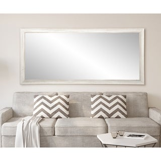 Multi Size BrandtWorks Distressed Coastal White Wood Floor Mirror - White/Grey