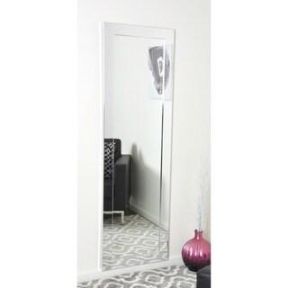 BrandtWorks Slim Sleek Chrome Full-length Wall Mirror