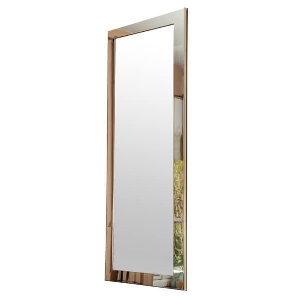 Brandtworks Slim Sleek Chrome Full Length Wall Mirror