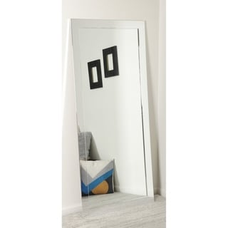 Multi Size BrandtWorks Silver Chrome Finish Floor Mirror