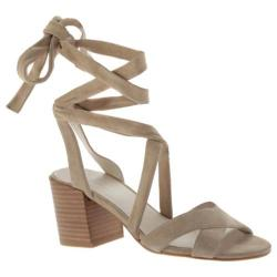 Women's Kenneth Cole New York Victoria Ankle-Tie Sandal Cafe Suede