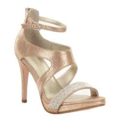 Women's Kenneth Cole Reaction Main Squeeze Strappy Sandal Champagne Synthetic Snake