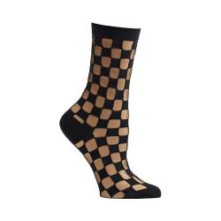 Women's Ozone Sheer Square Crew Socks Black