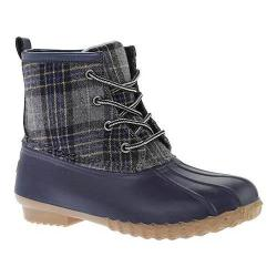 Women's Portland Boot Company Duck Duck Boot Low Navy Plaid