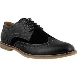 Men's Spring Step Dimitri Wing Tip Oxford Black Leather/Suede
