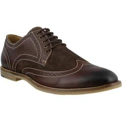 Men's Spring Step Dimitri Wing Tip Oxford Brown Leather/Suede