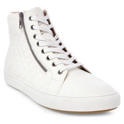 Men's Steve Madden Quodis Quilted High Top White Synthetic