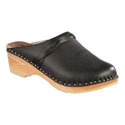 Women's Troentorp Bastad Clogs Da Vinci Braid Clog Onyx Leather