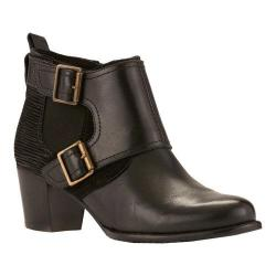Women's Walking Cradles Leah Bootie Black Leather/Max Suede/Ripple Suede