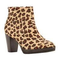 Women's Walking Cradles Tenacious Bootie Baby Leopard Hair Calf